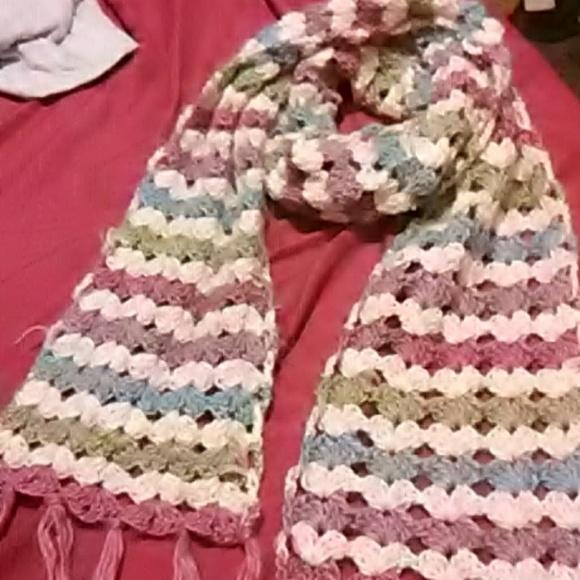 Hand Made Accessories Multi Colored Crochet Scarf Poshmark